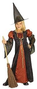 Halloween - Disfraz de Bruja para niña con sombrero, color naranja, infantil 3-4 años (Rubie