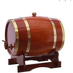 ZZW Fûts de chêne avec tampons en Aluminium intégrés pour Votre Propre Whisky, bière, vin, Bourbon, Brandy,D6