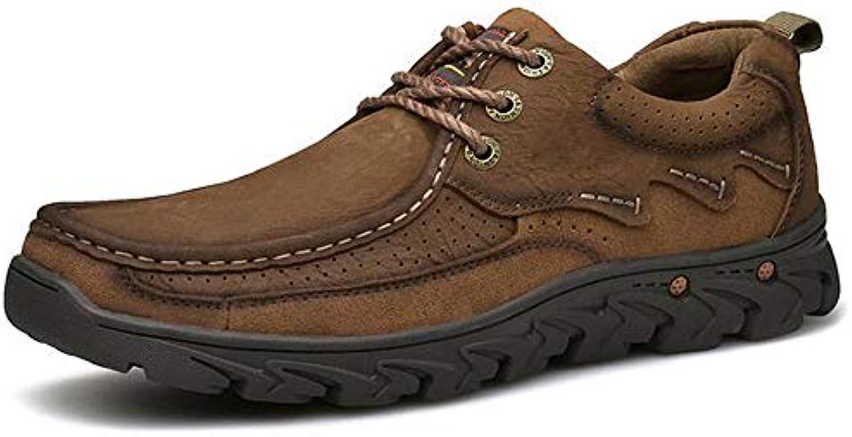 HWG-GAOYZ Stivali Scarpe Scarpe Scarpe da Uomo Stivali Martin Scarpe da Passeggio Escursionistiche in Pelle Vintage Autunno... | Bello e affascinante  80129f