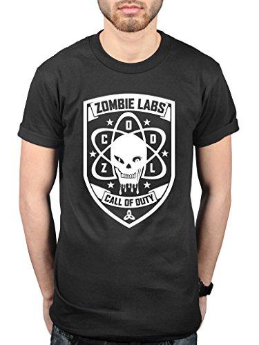 Offizielles Call of Duty Black Ops 3Zombie Labs T-Shirt Video Game Konsole schwarz schwarz XL (Black Ops Zombies-shirt)