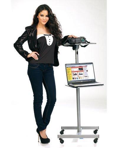 Tavolo carrello supporto porta videoproiettore pc notebook - Mensole porta pc ...