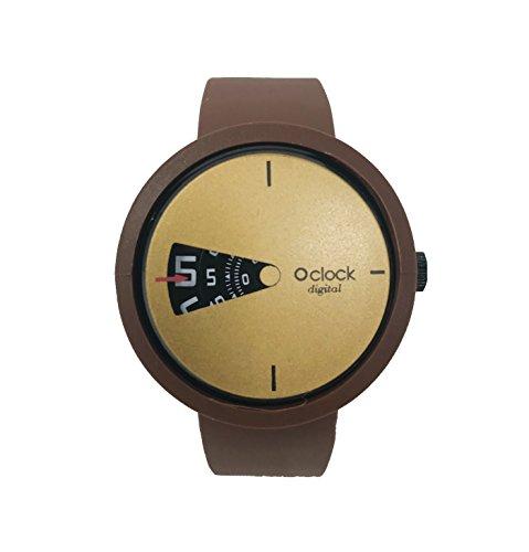 O Clock Armband braun Schokolade + Mechanismus Digital Gold XS - Armband Schokolade