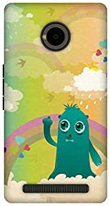 The Racoon Lean In the Clouds hard plastic printed back case/cover for Yu Yuphoria