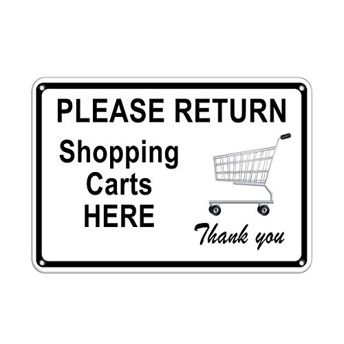 Tomlinsony Blechschild Metal Tin Sign Aluminum Please Return Shopping carts here Thank You Store Policy 12