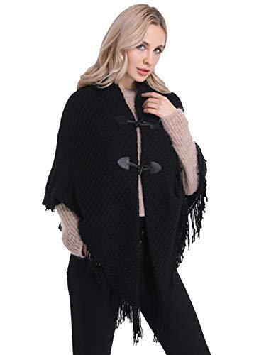 FEOYA - Mujer Ponchos Invierno Otoño Capa Chal Chaqueta