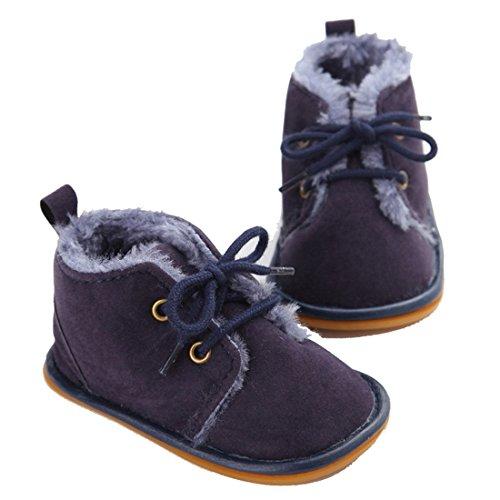 VWH Baby weiche Sohle Schnee Aufladungen Krippe Schuhe Kleinkind Stiefel, 0-18 Monate Tiefblau