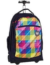 c107bdd298142 Rucksack Trolley Chiemsee Wheely Travelbag 54x37x23cm Plaid Blazing 0005  Reisetrolley mit Laptop-Fach Bowatex