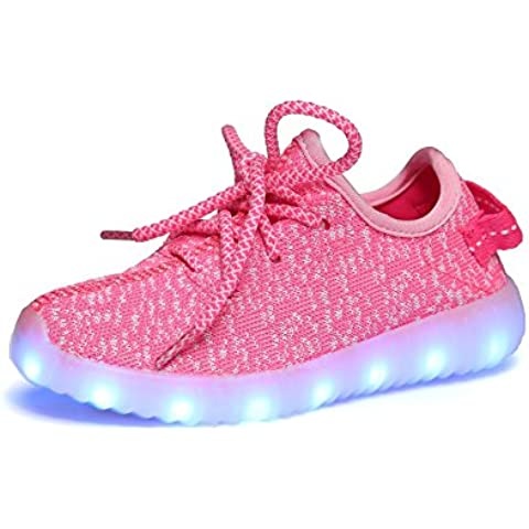 iBaste Unisex 7 Colors USB Carga zapatillas con luces led más gruesa cálido resistencia al desgaste zapatillas de deporte para hombres y mujeres otoño e