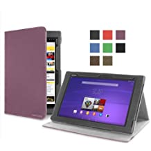 Cover-Up – Funda para Sony Xperia Z2 Tablet (26,6 cm, 10,1 Pulgadas Tableta) (Versión con Soporte) - Color Violeta