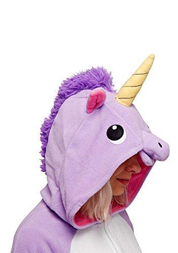 Einhorn Kostüm – Jumpsuit Cosplay, Tier Schlafanzug, Onesie für Erwachsene - 4