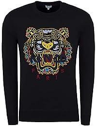 Kenzo Hommes Dragon Tigre Pull, Ras de Cou Noir Pull fedd88faf46