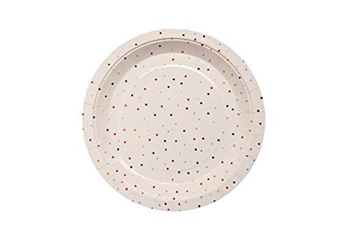 We Love Sonntag Tiny Quadratisch Konfetti Papier Teller ER | 10| Ideal für Verschiedene Motto-Partys