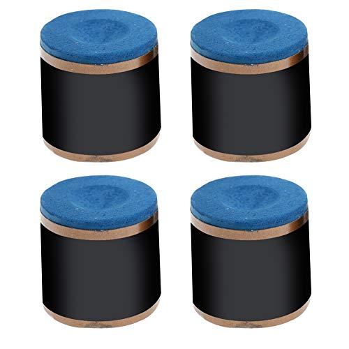 Sweet48 Billardkreide, 4 x zylindrische Billard-Zubehör, rutschfeste Queue-Spitze, Kreide, Snooker, Pool, blau