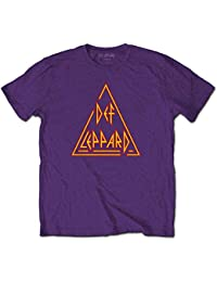 T-Shirt # M Unisex Purple # Classic Triangle Logo [Import Anglais]