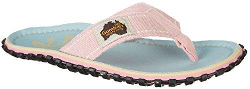 Gumbies Damen Zehentrenner - Rosa/Blau Schuhe in Übergrößen gecko