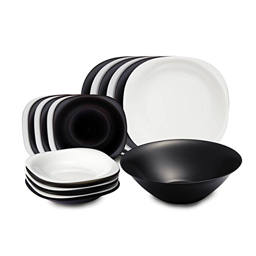 luminarc-carine-vajilla-cuadrada-de-19-piezas-color-negro-y-blanco