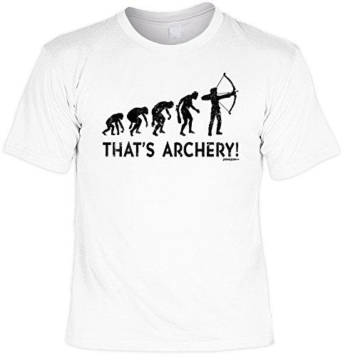 Fun T-Shirt That´s Archery! Herren Shirt Geschenkidee für Männer Weiß