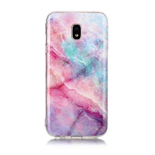 Karomenic Silikon Hülle kompatibel mit Samsung Galaxy J3 2017 Ultra Slim Dünn Schutzhülle Marmor Muster Weiche TPU Handyhülle Stoßfest Kratzfest Stoßfest Bumper Cover Schutz Tasche Schale,#2