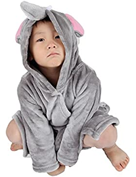 Winthome Pijama Bebé, Albornoces de Franela, Suave Ropa de Dormir para Niños