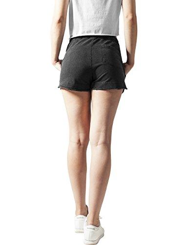 Urban Classics Damen Short Ladies Acid Wash Terry Hotpants Grau (darkgrey 94)