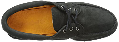 Timberland Traditional handsewn 3 eye lug CA11ZO, Chaussures bateau Black