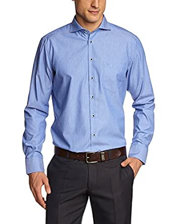 Seidensticker Herren Regular Fit Businesshemd SHARK 186577, Gr. Kragenweite: 38 cm, Blau (blau 16)