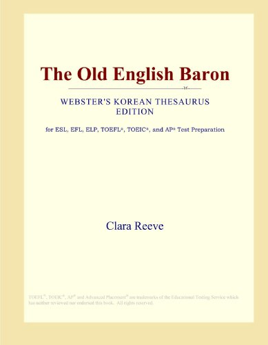 The Old English Baron (Webster's Korean Thesaurus Edition)