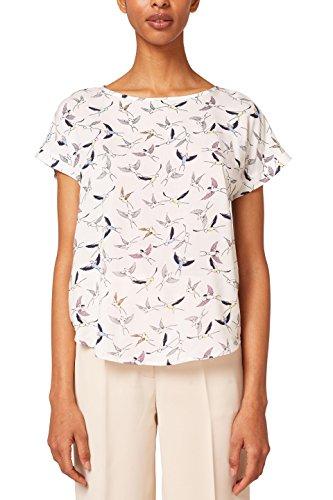ESPRIT Damen 058EE1F011 Bluse, Mehrfarbig (Off White 110), 36