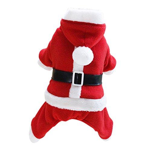 F Fityle Hund Weihnachten Weihnachtsmann Cosplay Kostüm Wintermantel Kleidung Männlich/Weiblich Pick - Rot - männlich - Männlich Weihnachten Kostüm