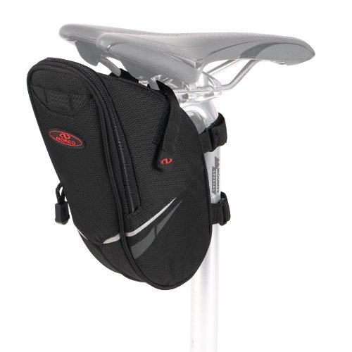 Norco Fahrradtasche Utah Satteltasche Schwarz, 25 x 12 x 8 cm, 1.5 Liter