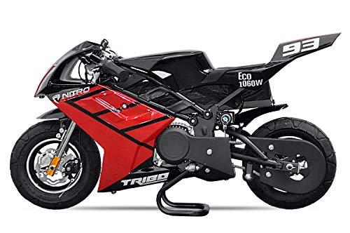 Elektro Pocketbike PS50 Tribo 1060W Kinderbike Rennbike Dirtbike Minibike Bike Pocket (Rot)