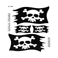 Supershaped Die-Cut Pirate Flag for Car, Black, 14 x 16 cm