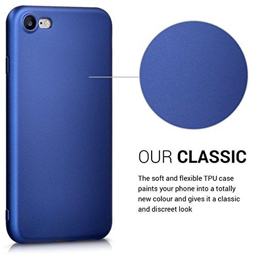 kwmobile Étui en TPU silicone élégant pour Apple iPhone 7 / 8 en or rose métallique .bleu métallique