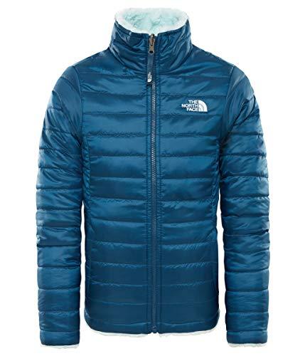 The North Face Mädchen Jacke Reversible Mossbud Swirl, Blue Wing Teal/Origin Blue, L, T0CN015GV (Mädchen Jacke Reversible)