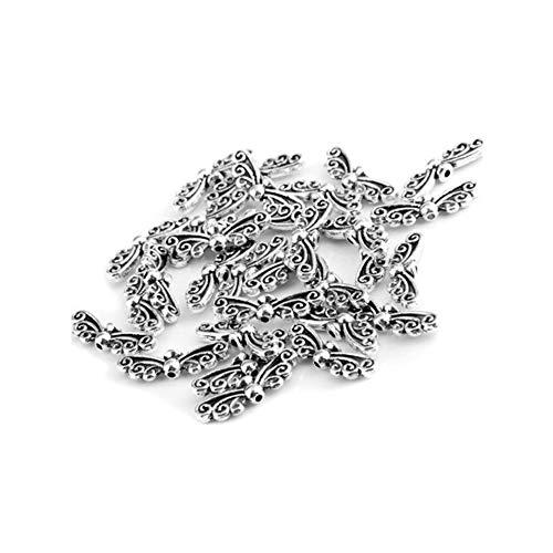 30Stk Vintage Style Engels Flügel Form Metall Spacer Korn Entdeckungen Zubehör für Schmucksachen, die DIY Halsketten Armband Engels Flügel B ArtSupplies (Flügel Diy Engel)