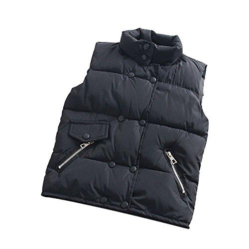 Deylaying Kind Mädchen Junge Weste Daunenjacke Taste Schnee Anzüge Winter Warm halten Verdicken Mante für 3-12 Jahr 100cm - 5 Taste Jungen Anzug