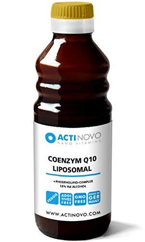 Liposomales CoQ10 (Ubiquinon, Ubidecarenon, Q10) - 250 ml mit 10% Alkohol - flüssige Nahrungsergänzung - extrem effektiv