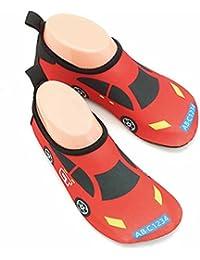 Vine Zapatos de piel al aire libre respirable antideslizante de Aqua Agua de bebé unisex del cabrito por Playa Con Surf Yoga Natación