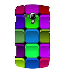 PrintVisa Square Colorful Design 3D Hard Polycarbonate Designer Back Case Cover for Samsung Galaxy S Duos 2 S7582 :: Samsung Galaxy Trend Plus S7580