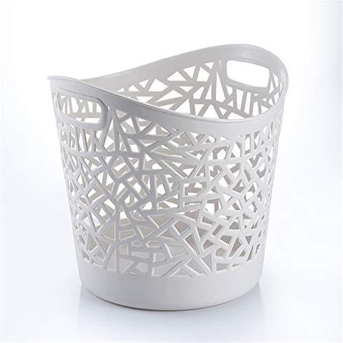 Ropa sucia Cesta de ropa sucia Cesta de plástico de almacenamiento Cesto de la ropa de baño Cesta de almacenamiento de baño Dormitorio de la cesta colgante en el hogar. ( Color : Gris )