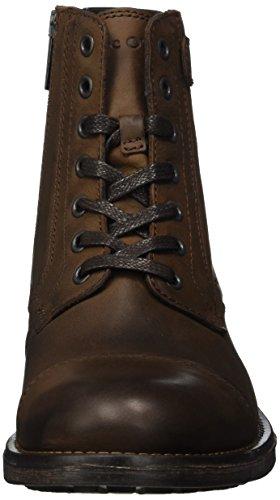 Marc O'Polo Herren Bootie Combat Boots, Braun (Mocca), 44 EU - 4