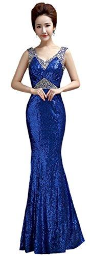 Drasawee - Robe - Cocktail - Femme Bleu - Bleu marine