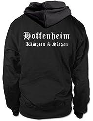 shirtloge - HOFFENHEIM - Kämpfen & Siegen - Fan Kapuzenpullover - Größe S - 3XL