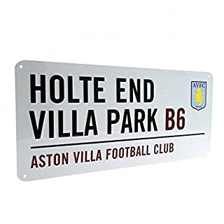 Aston Villa FC Official Football Gift Street Sign - A Great Christmas / Birthday Gift Idea For Men And Boys