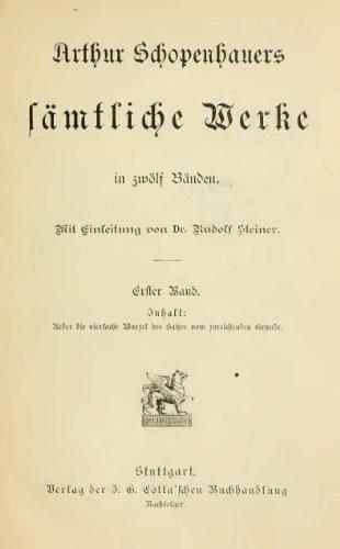 Schopenhauers sämtliche Werke in zwölf Bänden 1895  01/12 Original-Scan