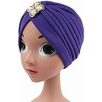 c1eb3513648 LUFA Girls India Hat Turban Cap Beanie Hat Caps Head Cover Children Kids  Dome Hats