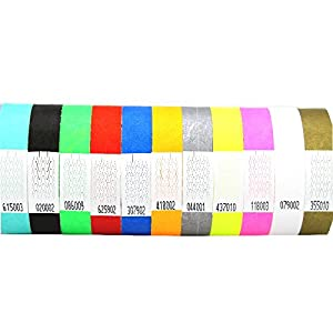 Premium KONTROLLBÄNDER / SECUREBÄNDER in allen Farben: 100er Pack, Farbe: Neon Gelb