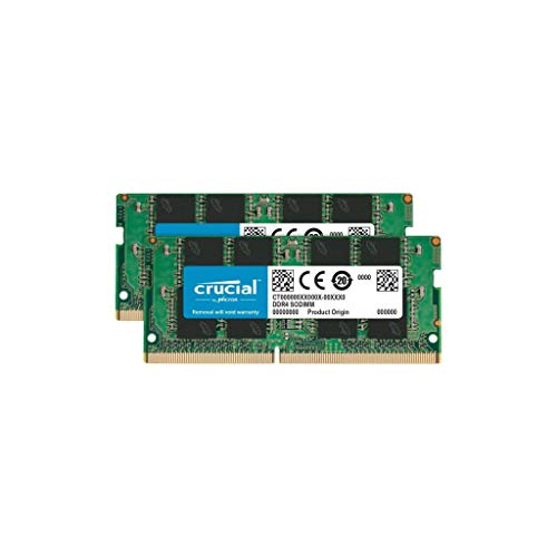 Crucial CT2K8G4SFS824A 16GB (8GB x2) Speicher Kit (DDR4, 2400 MT/s, PC4-19200, Single Rank x8, SODIMM, 260-Pin) -