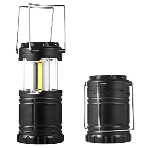 Lumières de camping LED extérieure portative télescopique d'urgence Crochet Pony Lumières Tentes extérieures Super Bright Camp Tent (Noir)