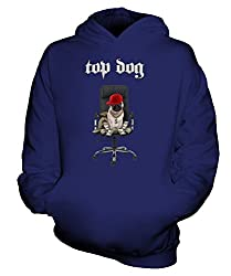 Candymix - Top Dog Pug With Dollar - Unisex Kids Hoodie Boys Girls Childrens Toddlers Hooded Sweater Top